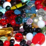 Glass beads - mixed spangling