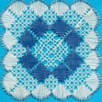 Rose ground & diamond coaster - Lace Making Pattern