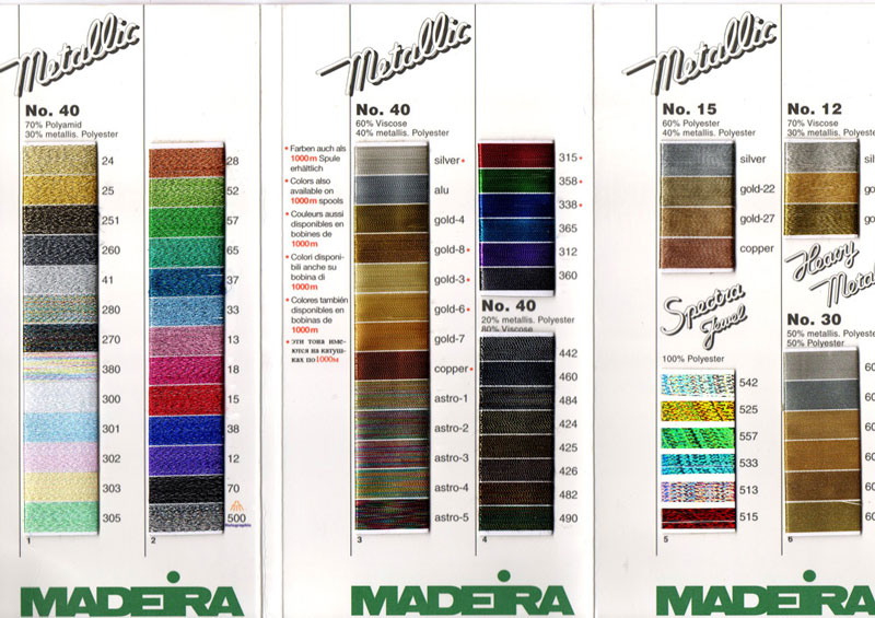 Madeira Metallic Thread Mainly Lace