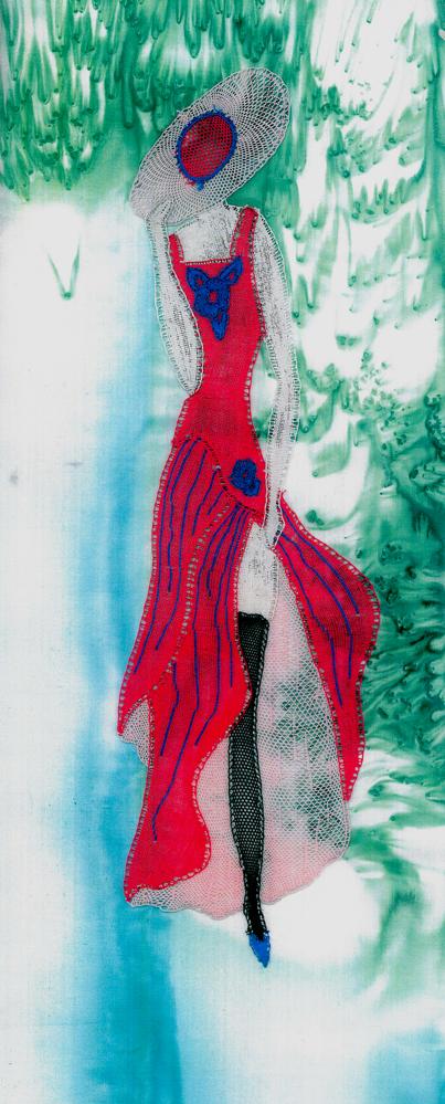 Modern bobbin lace pattern Magda